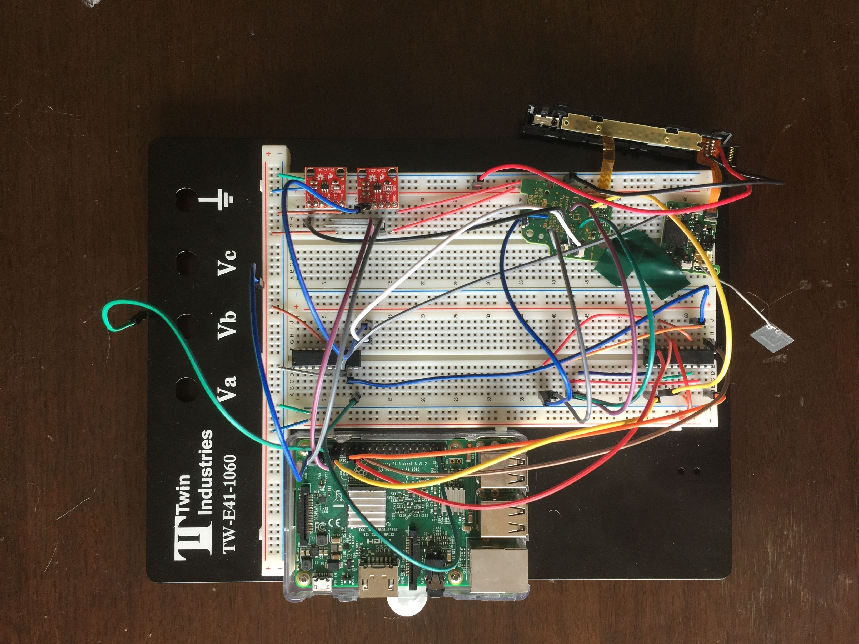 breadboard for the project